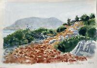 Karl Adser 1912-1995 Wanderweg an der Küste Sesklia Symi Insel Meer Griechenland