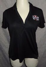 EAGLE RIDER MOTORCYCLES Los Angeles Black SS Polo Shirt Harley L Biker Lady Golf