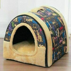 Warm Dog House Comfortable Printed Kennel Mat for Pet Puppy Foldable Cat