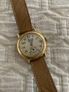 Genuine Vintage Emerich Meerson Paris Women's Leather Mechanical Watch Nice!