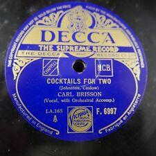 78 tr/min Carl Brisson Cocktails pour deux/A Little White Gardenia