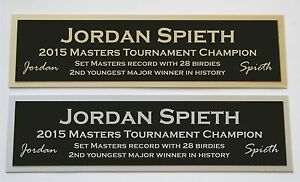 Jordan Spieth Masters nameplate for signed golf ball photo or display case