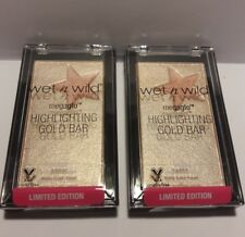 Lot of 2 Wet N Wild Megaglo Highlighting Gold Bar Holly Gold-head #34855 NEW