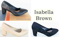New Pointed toe mid heel court shoes Isabella Brown Shoes Megan Sale