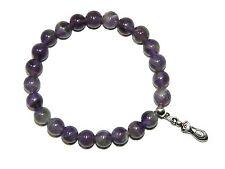 B-0144  Beautiful Brazilian Amethyst Gemstone Fertility Charm Wish Bracelet