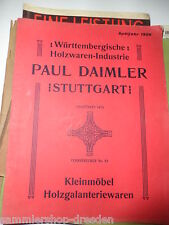 18314 paul Daimler stuttgart catalogue 1906 petits meubles holzgalanteriewaren étagères