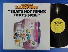 NATIONAL LAMPOON THAT'S NOT FUNNY THAT'S SICK jem 77 USA Lp EX+ bill murray