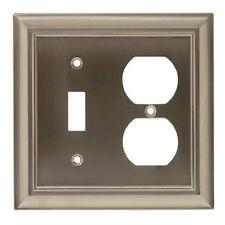 W069ZMC-BSN Brushed Satin Nickel Architect Single Switch/Duplex Cover
