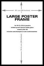 Black Wood Frame For 36 x 24 Inch Maxi Poster