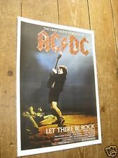 ACDC Let there be rock Repro Tour POSTER