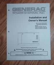 Generac 04673-2 04674-2 Generator Operators Manual