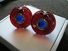 NEW REPLACEMENT PAIR OF BLUE DOT TAIL LIGHT LENS FOR THE 1939 CHEVROLET !