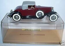 OLD SOLIDO CORD L29 1929 MARRON FONCE COUPE REF 55 MADE IN FRANC 1977 1/43 BOX