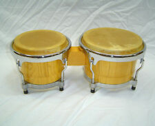 "Percussion Plus Pro Series Bongos 7"" & 8"" (Natural Finish) 003-100-436"