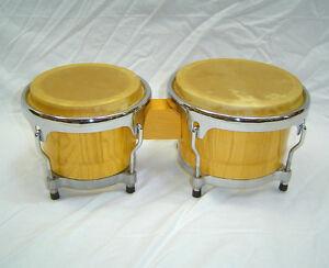 "Percussion Plus Pro Series Bongos 7"" & 8"" (Natural Finish) 003-100-436"