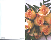 Wedding Program - Ivory Roses with Pink Tips added Bookmark Side Edge