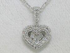Colgante corazón 925 plata rotgold dorado bicolor con circonita corazón remolque