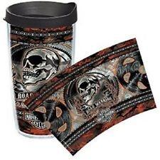 TT1216122 Harley-Davidson Mens Road Warrior Skull with Gears Wrap 16 oz Tervis