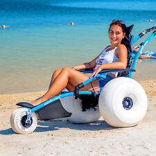 Hippocampe Beach Wheelchair Balloon Tires Sand, Water, All Sizes NEW