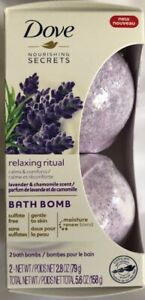 Pack Dove Bath Bomb Relaxing Ritual Lavender & Chamomille scent (1) Pack 2-Bombs