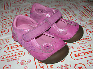STRIDE RITE NANCY BABY TODDLER GIRLS SHOES size 5 W PURPLE PINK LEATHER ADORABLE