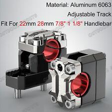 "CNC Billet Handlebar Clamp Riser Fat Bar Mount For Suzuki 7/8"" 1 1/8"" Adjustable"