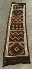 Flat Woven TURKISH VERNEH PANEL Very Long Hand Woven VINTAGE KILIM