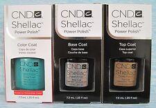 CND Shellac UV LED Gel Power Polish 3pc Set HOTSKI TO TCHOTCHKE, BASE & TOP COAT