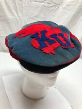 d3f2b881bbf Vintage Kansas Jayhawks Newsboy Cabbie Duckbill Hat Corduroy Adult Medium  Cap