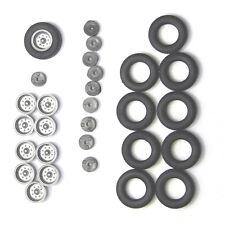H0: 90 0002 04: 2x Radsatz Hochdruckbereifung Anhänger HW80, E5 Felgen silber