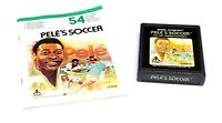 Pele's Soccer (Atari 2600, 1981) Cart & Manual (Tested) Rare