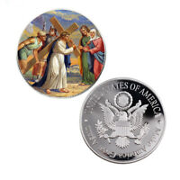 Jesus Commemorative Souvenir Coin 999.9 Silver Coin for Religion Collection