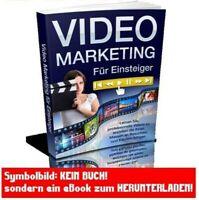 Videomarketing eBook Deutsch VIDEO MARKETING WEB PROJEKT VK Seiten + MRR LIZENZ