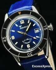 Brand NEW Squale 30 ATMOS Marina Blue 60th-anniversary Watch with Warranty