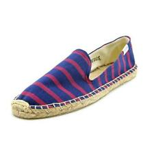 Flat (0 to 1/2 in.) Synthetic Striped Shoes for Women