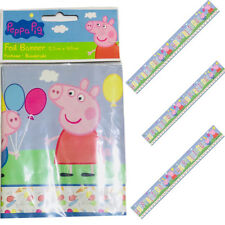 New Cute Peppa Pig Foil Banner 12.5CM X 365CM Long Party Decoration Banner