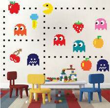 Retro Game Pac-man Wall Art Sticker Removable Nursery Decor Kid Decal Mural DIY