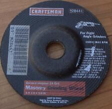 "Craftsman 28441 General Purpose 24 Grit Masonry Grinding Wheel - 4 x 1/4 x 5/8"""