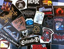 15 verschiedene HEAVY METAL STICKER [METALLICA, AC/DC u.v.a. ...] Auto Aufkleber