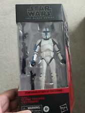 Star Wars 6in Black Series CLONE TROOPER LIEUTENANT Blue AOTC Walgreens MOC C9+