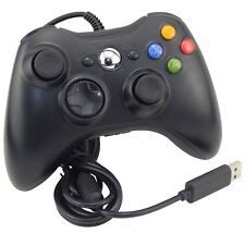 BLACK BRAND NEW USB WIRED CONTROLLER FOR MICROSOFT XBOX 360 PC WINDOWS UK SELLER