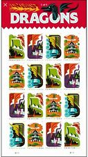 DRAGONS 16 STAMPS FOREVER MNH
