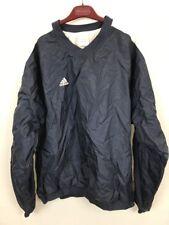 Vintage Adidas Men's L V Neck Heavy Shirt Blue