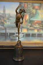 Signed: Giambologna, BRONZE STATUE OF PERSEUS OR MERCURY BRONZE SCULPTURE