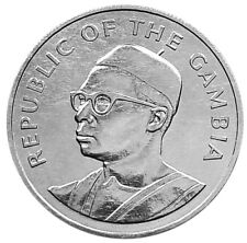 GAMBIA 10 Dalasis 1975 Silver UNC '10th Anniversary of Independence'