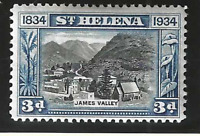 St. Helena Stamp Scott #105, Used Hinged