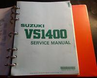1990-2000 SUZUKI MOTORCYCLE VS1400 SERVICE MANUAL P/N 99500-39152-03E (418)