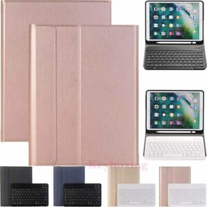 For iPad 8th 7th 6th 5th Gen/Mini/Air/Pro Bluetooth Keyboard Leather Case Cover