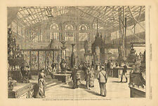 Philadelphia, Centennial, Main Bldg. Fireworks, Vintage, 1889 Antique Print 2pgs