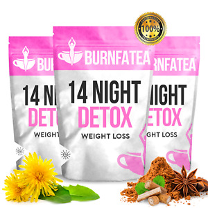 BURNFATEA 14 NIGHT DETOX TEA, WEIGHT LOSS TEA, SLIMMING TEATOX, DIET CLEANSE TEA